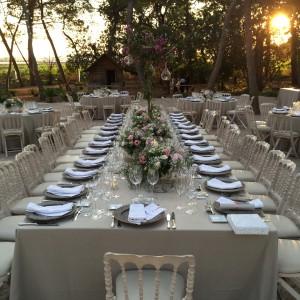 Banquete al atardecer
